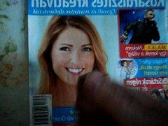 cum tribute vidz on newspaper  super girl