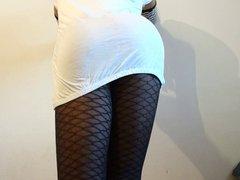 sissy crossdresser vidz in fishnet  super stockings