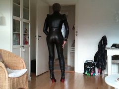 Sissy favorite vidz sexy leather  super outfit 1
