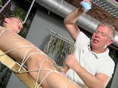 Slave boy vidz tied up  super and jerked off several times