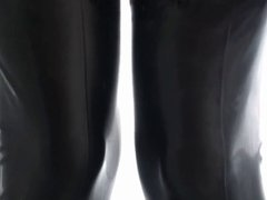 Latex Nurse vidz & Anal  super Fuck In Hunter Rubber Boots