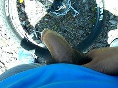 pre-cum jerk-off vidz on my  super mountain bike
