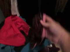 Searching neighbors vidz dirty laundry  super for her panties