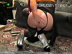 Playing with vidz my ass,  super dressed in lycra xx
