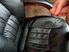 Masturbation Standing vidz Up with  super Cum all over chair