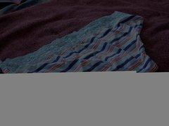 Neighbor's blue vidz stripe panties