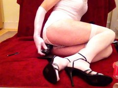 Toy play vidz in white  super club dress and stockings