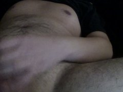 Wanking my vidz fat uncut  super cock and unloaded on myself