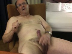 Stroking my vidz nipples, showing  super of my cock, and a cum shot