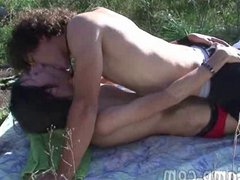 Two cute vidz twinks go  super for a romp in the sunny meadow
