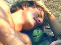 Nude gay vidz sunbathers please  super each other in the rocks