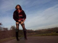 Tranny walking vidz outdoor