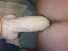 taking big vidz dildo from  super behind