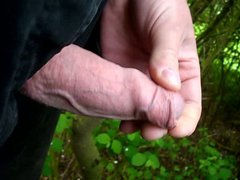 Uncut Cock vidz Outdoor Wanking  super and Cumming
