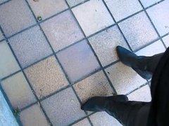 Rubber thigh vidz boots