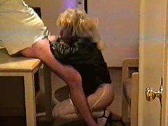 Blonde CD vidz On Her  super Knees Blowing Her Man