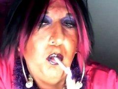 Chrissie smoking vidz for all  super you sluty smoke lovers