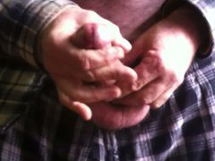 beating on vidz my cock  super with my fist