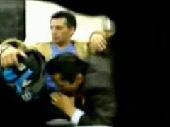 Suit blows vidz on metro