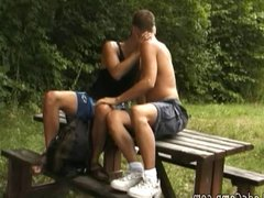 Dreamboat boy vidz got seduced  super by his gay picnic buddy