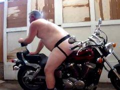 A Bear vidz Loves his  super Bike