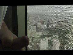Randon is vidz Jerking off  super in the tallest building in the city