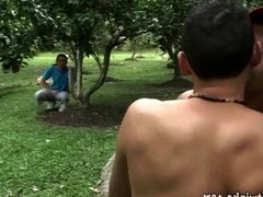 Sexy lad vidz gets it  super on with two well-hung gardeners