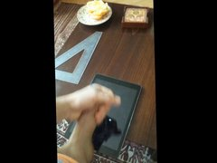 Jerking and vidz cumming on  super iPad Air
