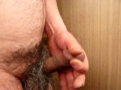 Japanese mature vidz man masturbation  super erect penis semen