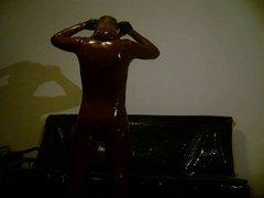 easy to vidz take off  super a latex suit without zipper