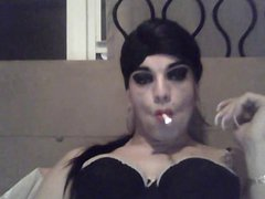 Smoking Sissy vidz Slut