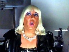 Chrissie smoking vidz on her  super bithday