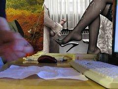 handjob with vidz cumshot while  super watching anal