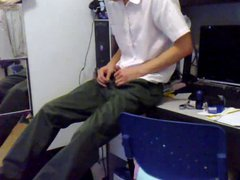 jerk and vidz cam in  super suit and privat office