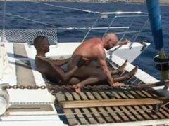Franco Cento vidz & Sandro  super on a boat