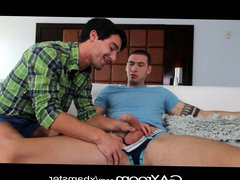 Gayroom - vidz Twinks get  super lucky on strip and fuck