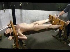 BDSM bondage vidz gay boy  super is tickled and tortured