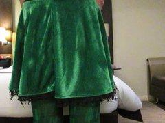Transvestite Leprachaun vidz Gets St  super Patricks Day Whipping