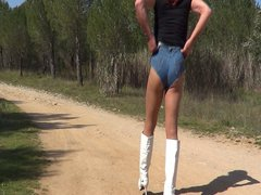 Denim short vidz & boots