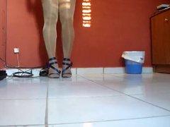 sexy dress vidz and pantyhose  super legs- crossdresser