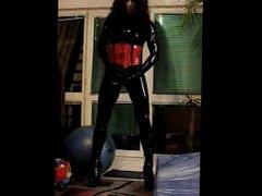 latex catsuit vidz corset