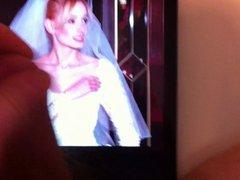 Blowing a vidz load over  super bride pics