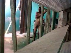friend showering vidz with a  super hardon