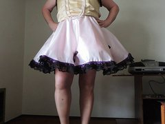 Sissy Ray vidz in Pink  super Sissy Dress and Pink Petticoat
