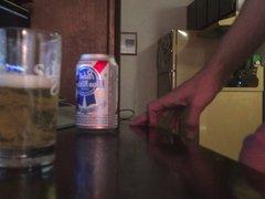 Cum in vidz beer and  super drink it