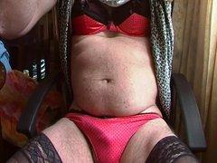 crossdress in vidz red panties