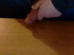 Cum shot vidz jizz jerk  super big load cum on desk