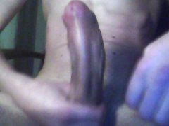 stroking my vidz dick and  super cumming