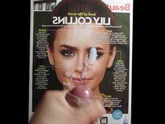Lily Collins vidz Cum Tribute  super MMBK No. 3