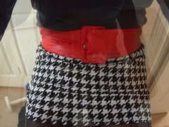 Short Skirt vidz and Black  super Tights